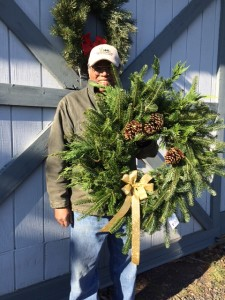spruce rock farm, christmas tree farm va, christmas wreath,