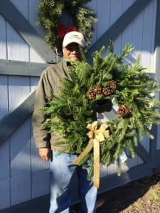 Hand made Christmas Wreath from Spruce Rock Farm.